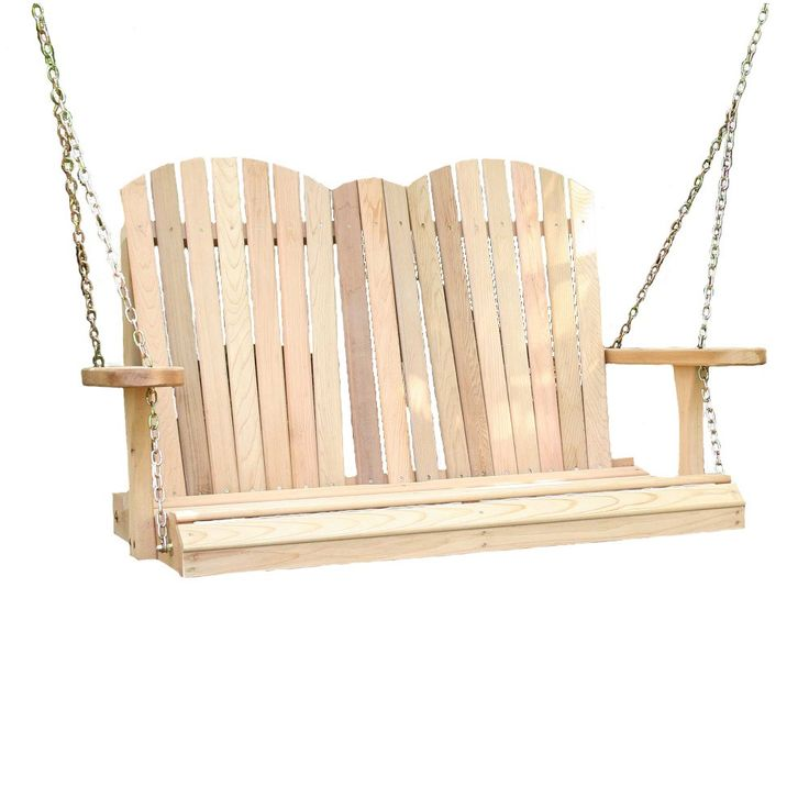 Wish your comfy Adirondack chair could give the gently sway of a porch swing? Wish your porch swing had the coveted style of an Adirondack chair? Well, look no further; this Adirondack porch swing mad