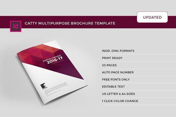 Catty Multipurpose Brochure (update) by Studio Designs on @creativemarket