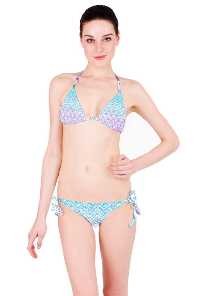 Summer Bandana Chevron - Bikini Pinkcess Bikini Set #bikini #girl #summer #beach #fashion #zigzag #chevron #tribal #acqua #lila #fashion #pattern #independent #designer #nikamartinez