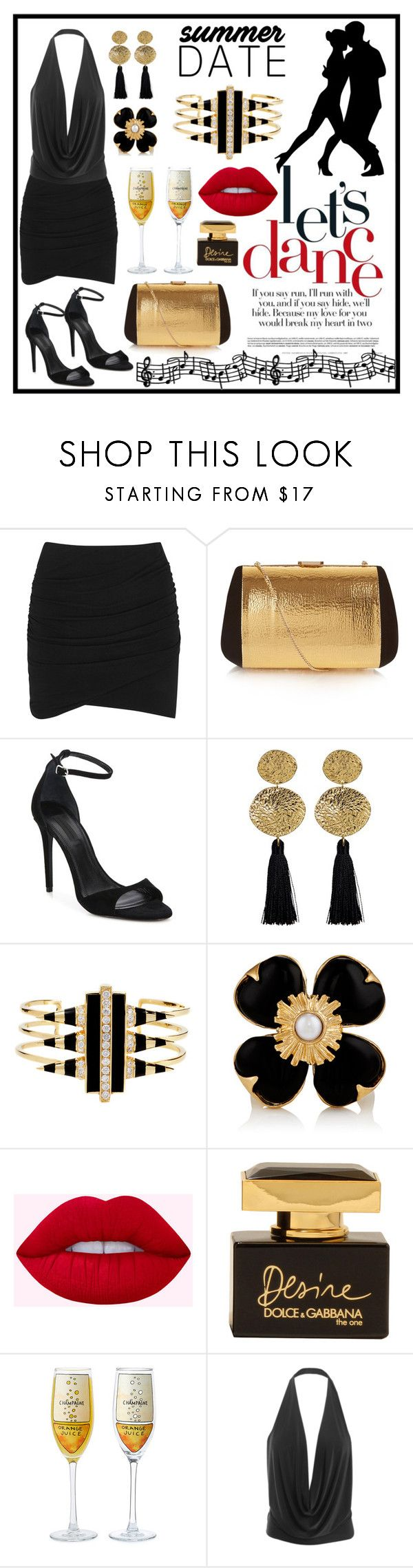 """Smokin' Hot: Summer Date Night"" by terryandjim ❤ liked on Polyvore featuring James Perse, Nina Ricci, Alexander Wang, Gorjana, Noir Jewelry, Goossens, Dolce&Gabbana, LE3NO and summerdatenight"