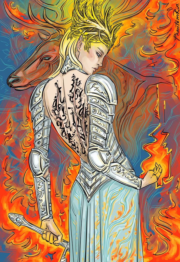 """Fireheart (""""Throne of Glass"""" by @sjmaas)  Amazing, amazing Throne of Glass art by Phantom Rin. Wish I had even a smidge of artistic talent"""