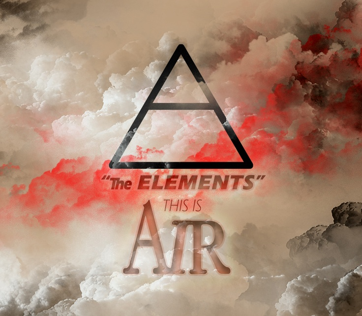 """""""The Elements: Air #1""""  Alchemic symbols, another one gone! #alchemy #triangle #air #landscape"""