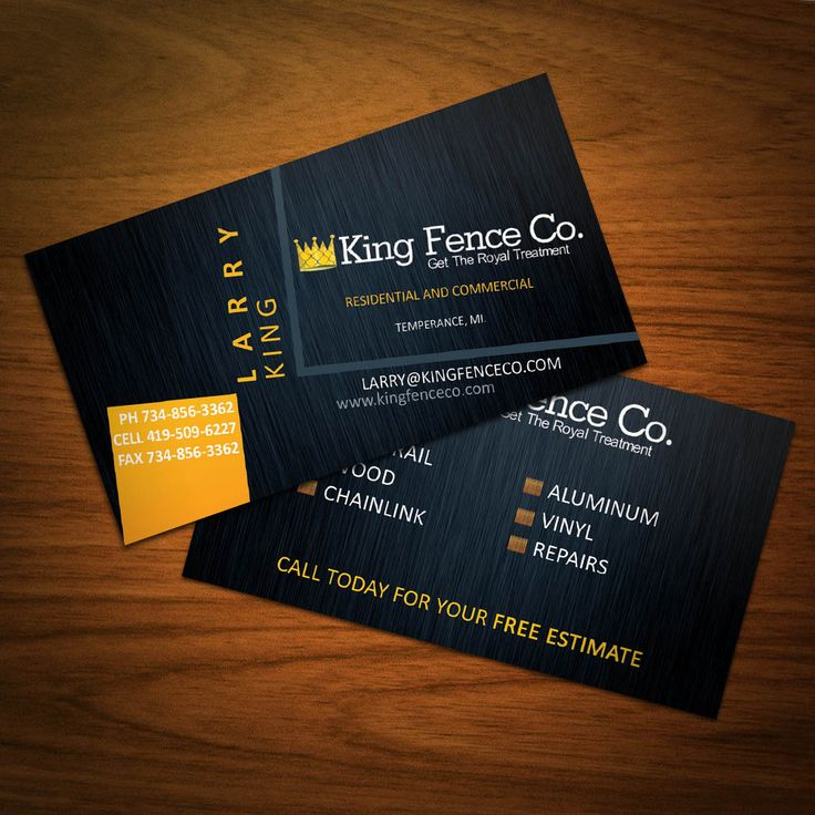 Business Cards I Designed For A Local Fence Company Business Card Design Minimal Massage Therapy Business Cards Business Card Template Design