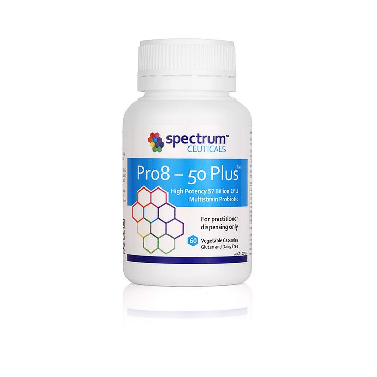 Pro8 – 50 Plus™ is a gluten and dairy free Australian made probiotic containing 8 strains of beneficial micro organisms with over 50 billion colony forming units (CFUs). This finished product formula has undergone independent third party allergen testing with no protein residue for gluten (wheat), casein (dairy), peanuts, walnuts and almonds detected. L-Lactate producing strains of probiotic account for 93% of the formulation containing over 30 billion CFUs of Lactobacillus rhamnosus.