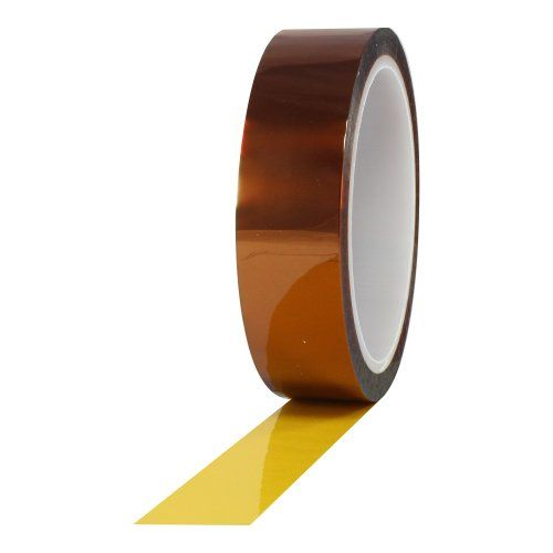 """ProTapes Pro 950 Polyimide Film Tape, 7500V Dielectric Strength, 36 yds Length x 1/2"""" Width (Pack of 1) - ProTape pro 950 polyimide film tape. It is an ideally suited for continuous high temperature operating conditions. It is used as a ground, barrier and phase insulation in high performance torridal coils, high frequency motors. It can be used for end turn bundling and connection insulation in smal..."""