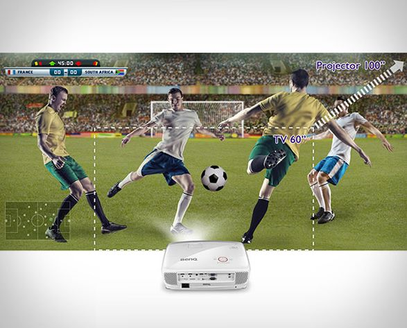 If you´re into some serious gaming you´´l love this. The BenQ projector lets you enjoy your favorite console games on the big screen, right in the comfort of your home. Built specifically for gaming, the 1080p Full HD image projector is super-quick,