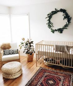 Nursery Inspiration  - fresh and sophisticated, warm and rustic