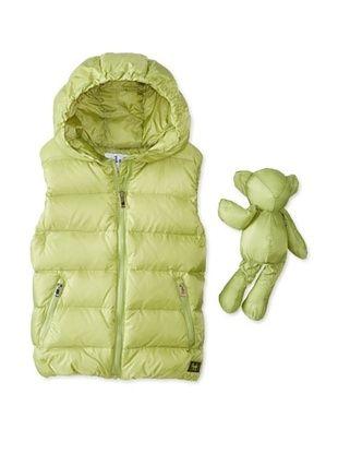 48% OFF Il Gufo Kid's Hooded Down Vest (Green)