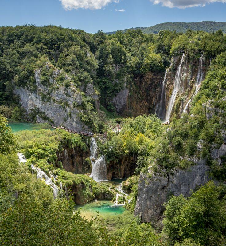 Waterfalls in the Plitvice Lakes National Park, Croatia.