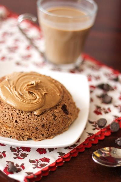 Double chocolate 2-minute protein muffin