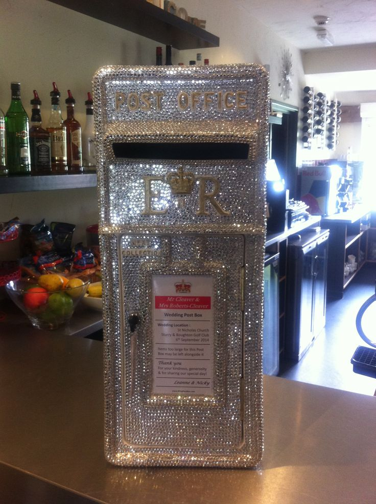 Blinging diamonte wedding post box