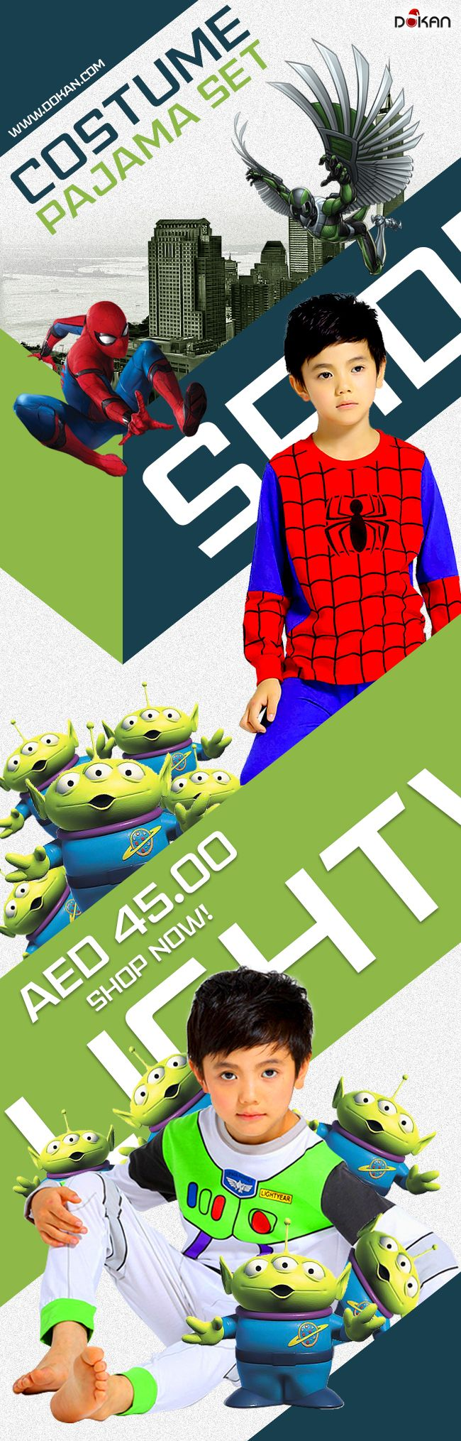 15 AED Delivery Charge Free Delivery above 200 AED purchase Call or Whatsapp: 0503160016 Mobile app : http://onelink.to/dokan #dokan #uae #onlineshopping #ecommerce #pajama #costumepajama #toystory #spiderman #ironman #woody #buzlightyear #cutepajama #sleepwear