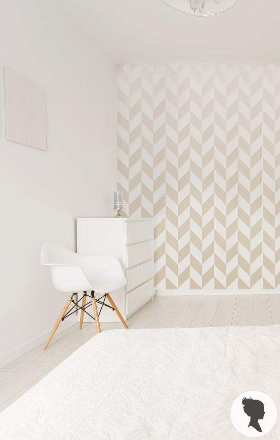 Ombre Herringbone Pattern Self Adhesive Removable Wallpaper M013