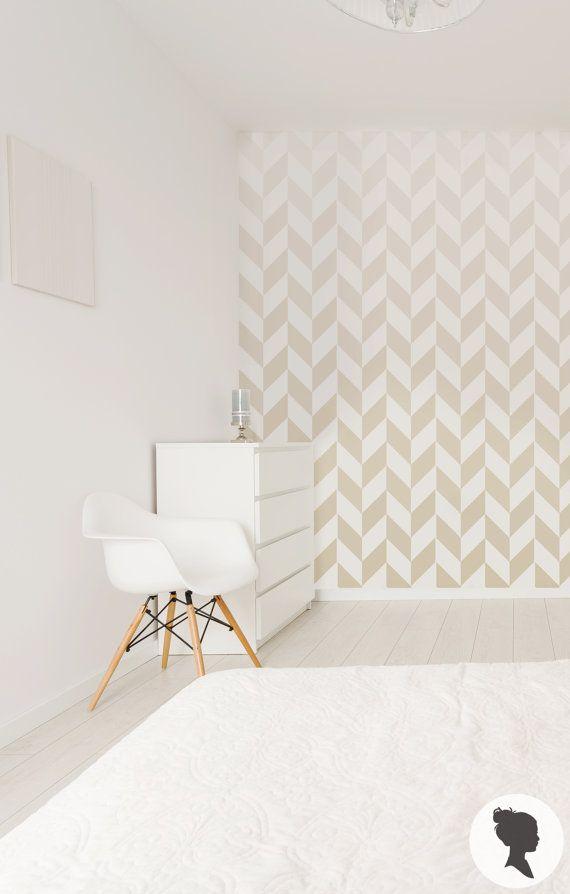 Ombre Herringbone selbst klebende abnehmbare Wallpaper von Livettes