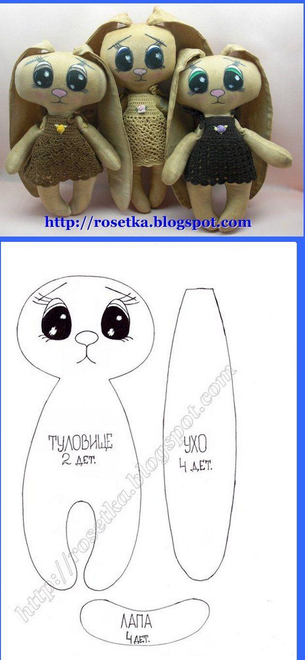 Cute Bunny cloth dolls.