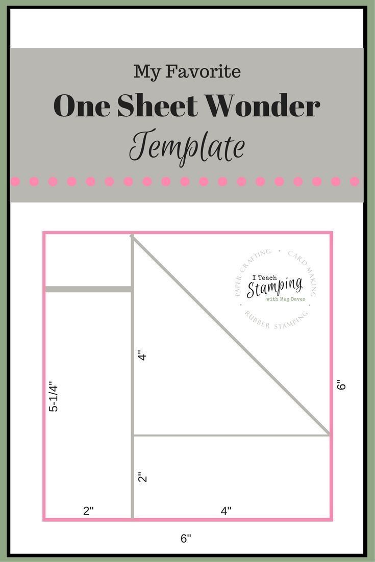 One Sheet Wonder Template For Batch Card Making