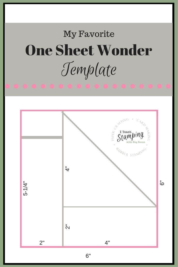 one sheet wonder template for batch card making card. Black Bedroom Furniture Sets. Home Design Ideas