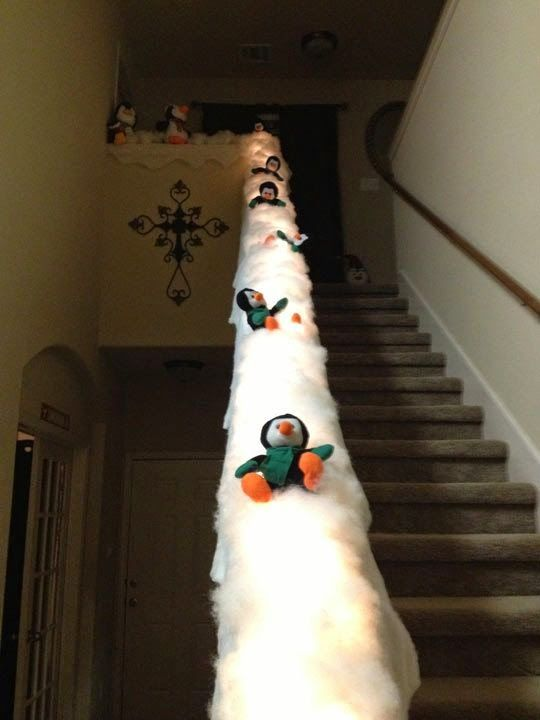 Now THIS is a unique DIY Christmas decoration. This would be perfect for any family with little ones!