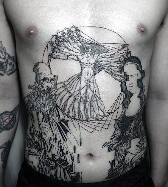 50 Vitruvian Man Tattoo Designs For Men