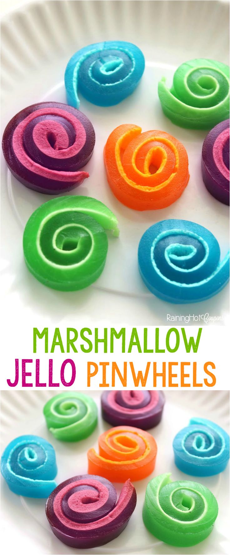 Marshmallow Jello Pinwheels - Raining Hot Coupons