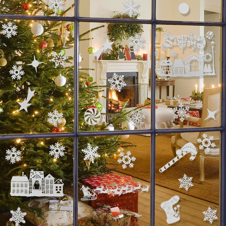 25+ unique Christmas window stickers ideas on Pinterest