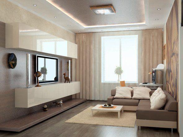 дизайн маленькой гостиной 2