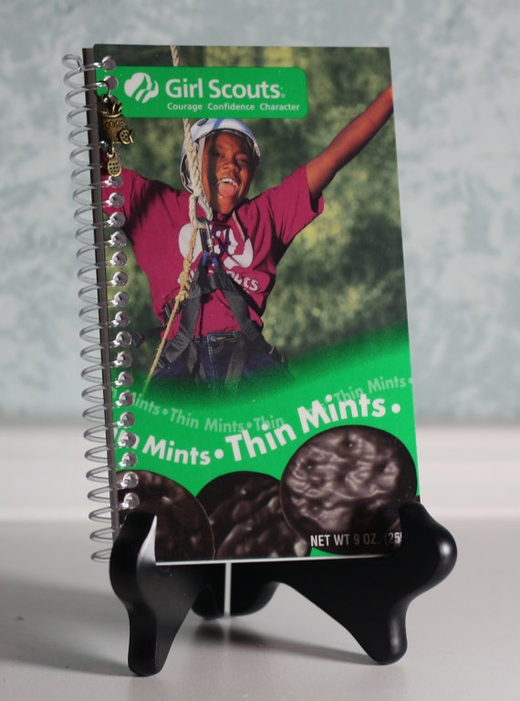 Cute idea for a girl scout's journal.