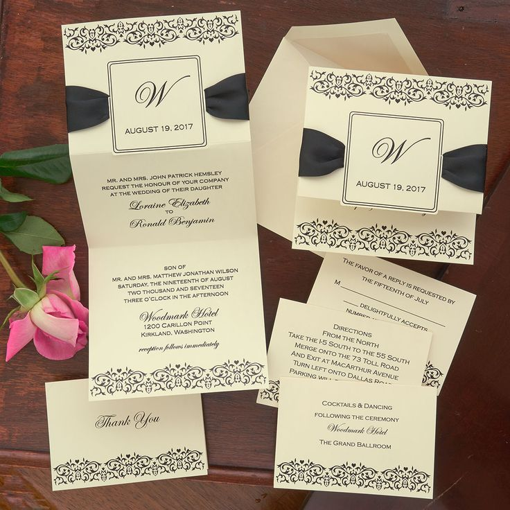 Damask Frame Monogram Wedding invitations  The American Wedding http://www.theamericanwedding.com/damask-frame-monogram-wedding-invitations.html