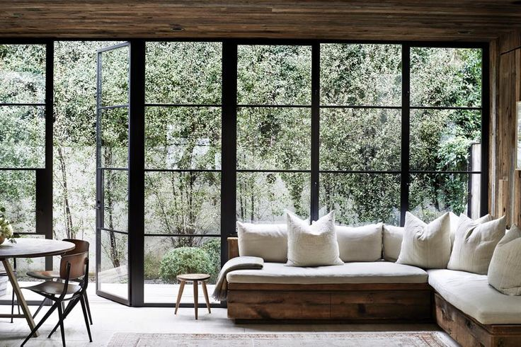 See your back yard or patio with these floor-to-ceiling windows