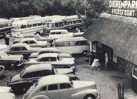 Dierenpark Amersfoort, parkeren voor de deur • Amersfoort Vroeger