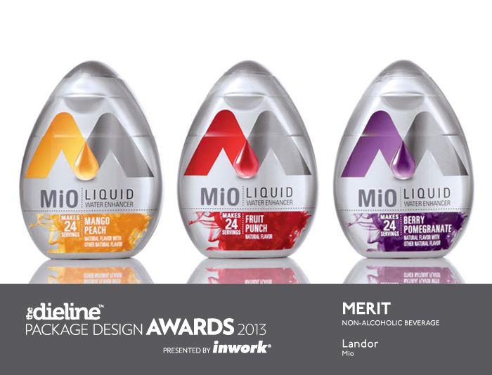 The Dieline Package Design Awards 2013: Non Alcoholic Beverage, Merit - Mio
