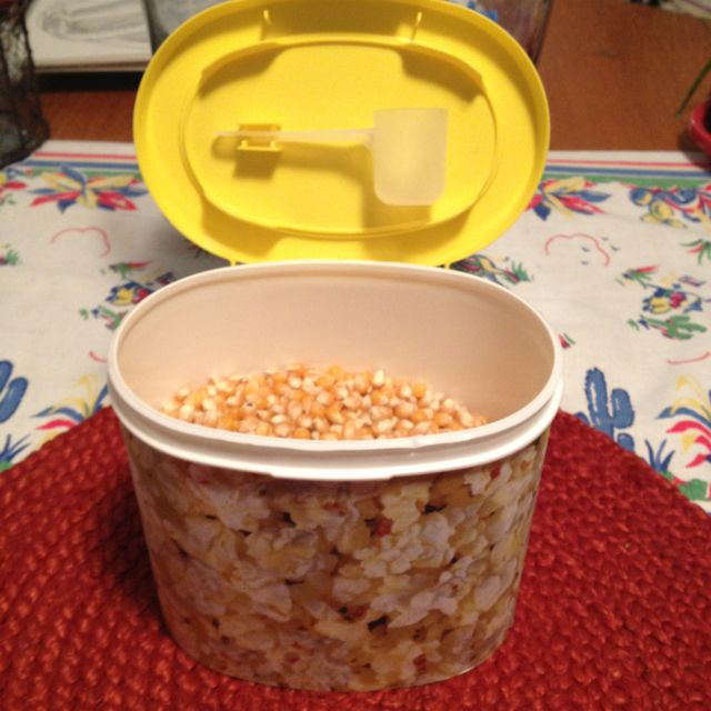 I wrapped some popcorn pictured scrapebook paper around an enfamil baby formula container;) ~my new popcorn container!!!