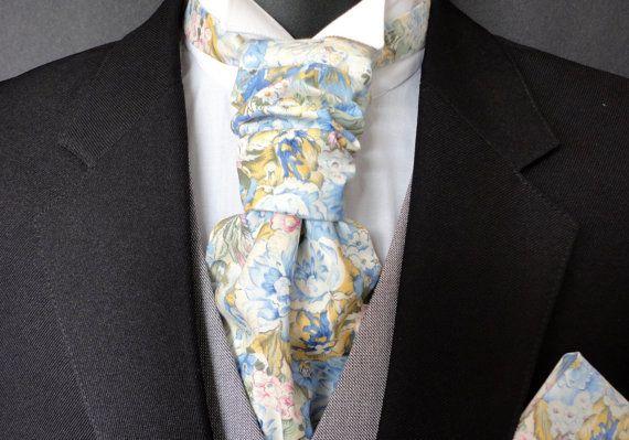 Scrunchy wedding cravat ascot wedding cravats for men