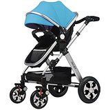 Hans&Alice Folding 2016 Baby Stroller Standard Strollers Anti-shock Doll Pram Travel System with Adjustable Handle and Multi-position Recline Seat-Purple, One Replaceable Blue...