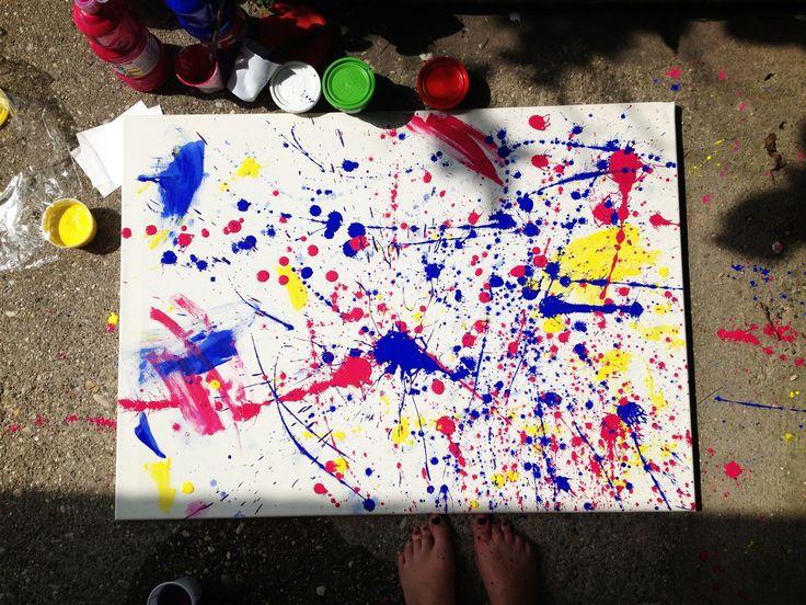 Esperimenti. Colori a dita su tela.
