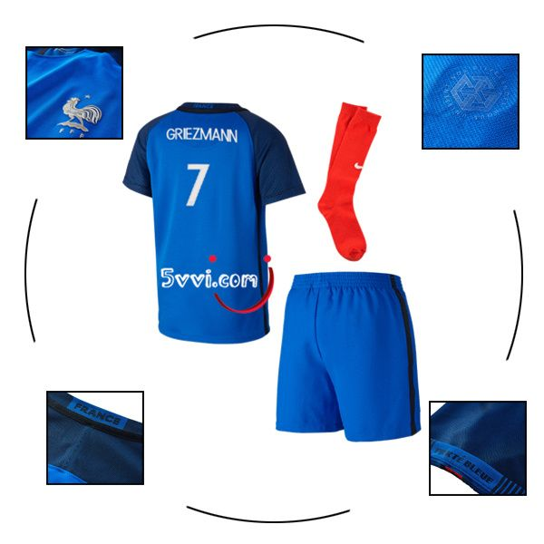 4203ad9de553d Acheter un maillot équipe de france enfant GRIEZMANN 2016 2017 domicile uefa  euro football cher | S-foot | Maillot equipe de france, Équipe de france et  ...