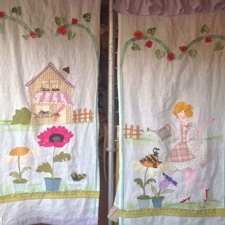 """il patchwork veste casa: TENDE PATCHWORK """"MON JARDIN"""""""