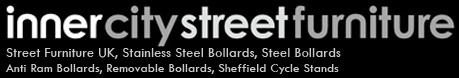 Inner City Street Furniture offers a range of UK manufactured street furniture in the finest stainless steel and mild steel.  Specialising in stainless steel bollards, cycle stands, hoop barriers and trolley bay protection. http://www.innercitystreetfurniture.co.uk/