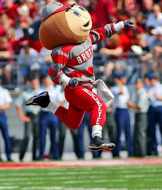 Brutus - Brutus Buckeye is the athletics mascot of The Ohio State University. The head of Brutus resembles an Ohio Buckeye nut. Brutus Buckeye travels to many events around The Ohio State University and often makes appearances around Columbus. #Spectrumlearn #mascot #madness