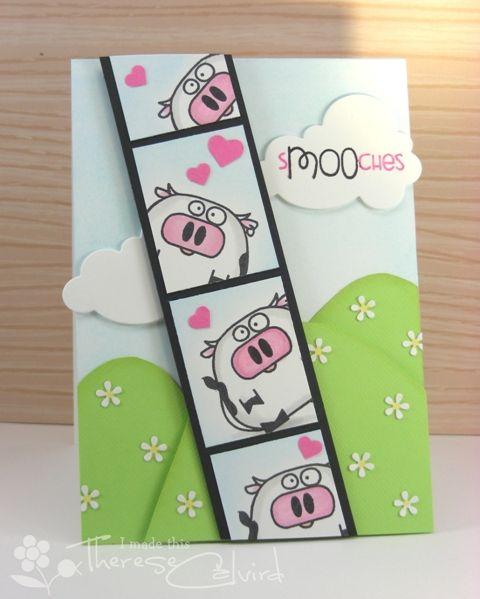 Lostinpaper - Paper Smooches - cow valentine