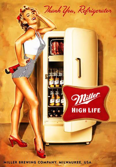 Miller Beer Vintage Ad