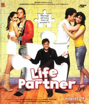 Life Partner - DVD Buy Online Life Partner - DVD. 100% Original Company Genuine Item. Buy new release Hindi Movie dvd,Buy original Movies dvd, Audio Cds, Devotional Cds, Blu ray disc starcast 	: 	Govinda, Fardeen Khan, Genelia Dsouza, Tusshar Kapoor director 	: 	Rumy Jaffery producer 	: 	Abbas Mustan music_director 	: 	Pritam genre 	: 	Comedy format 	: 	DVD label 	: 	T-Series language 	: 	Hindi year 	: 	2010 Discs 	: 	1