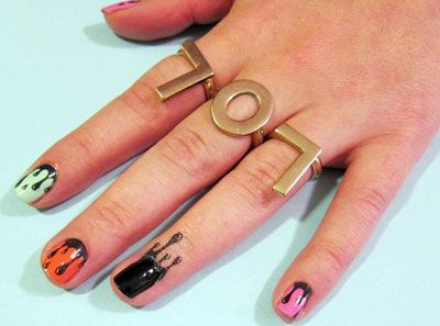 These nail tattoos can be applied to the fingernail or along to cuticle to creat…