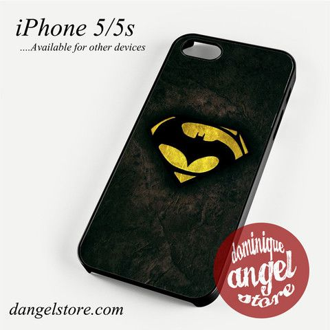 Batman V Superman in Logo Phone case for iPhone 4/4s/5/5c/5s/6/6 plus
