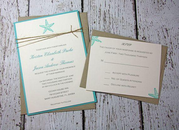 Hey, I found this really awesome Etsy listing at http://www.etsy.com/listing/120748163/sample-starfish-wedding-invitationsbeach