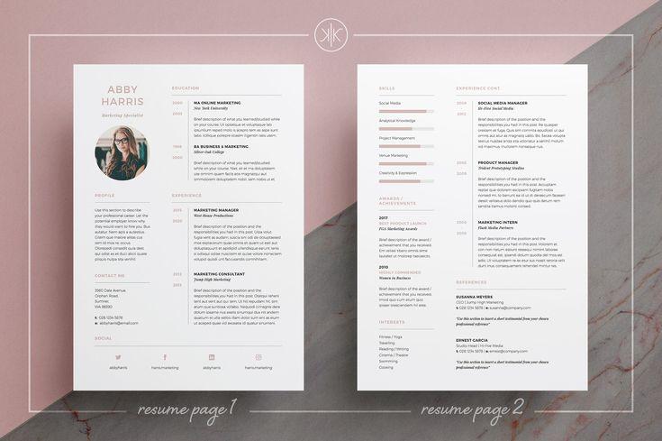 Resume/CV | Abby by Keke Resume Boutique on @creativemarket