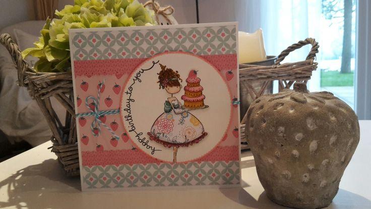 Carte anniversaire #stamping bella