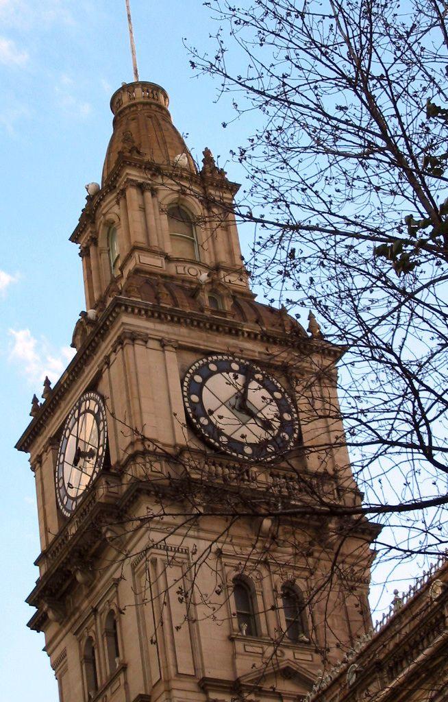 Melbourne - Australia Town Hall Clock Where else can you find Art Deco in Melbourne - Australia? Click through to http://www.family-getaways-melbourne.com/art-deco-chandelier.html