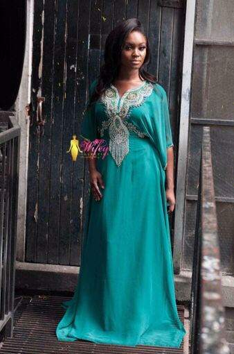 Beautiful bling embroidered kaftan. Modesty and elegance. Order online.