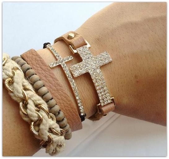 junky jewelry with crosses and bling - Google Search